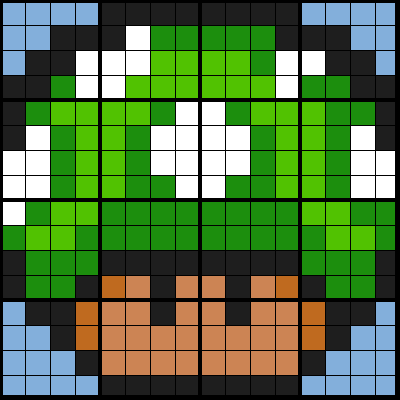 One Up Mushroom - Sine Law (4, 16, 32 Worksheet Mosaics)