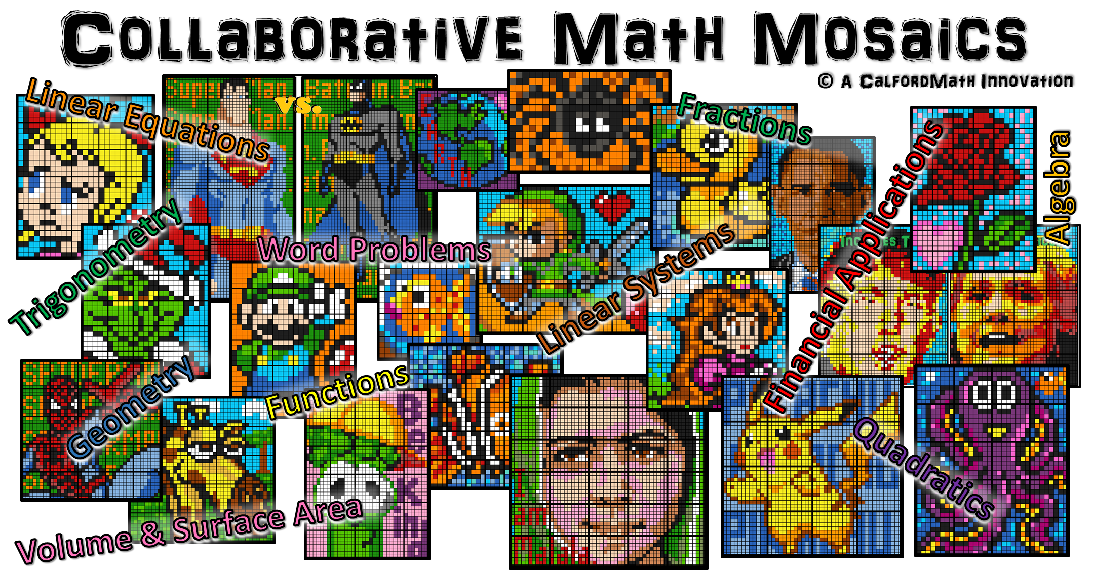 Collaborative Math Classroom ~ Collaborative math mosaics product directory