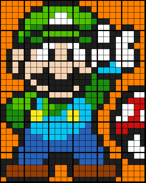 Video Game Luigi - Equation to Transformation Description
