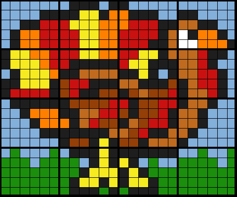 Trig Turkey - SohCahToa 16 Worksheet Mosaic, simple colours version